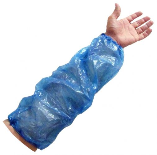 Blue Polythene Disposable Oversleeves x 100